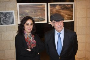 "Bethlehem Museum opened artist Fadwa Rohana's exhibit, ""Walking the Edge of Nostalgia."""